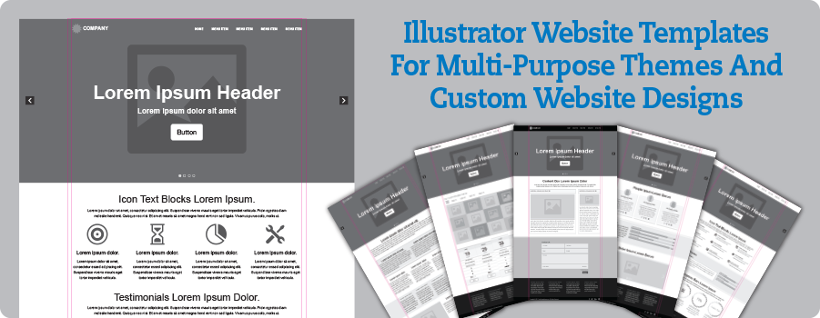 Crave Creative: Illustrator Website Templates For Multi-Purpose Themes